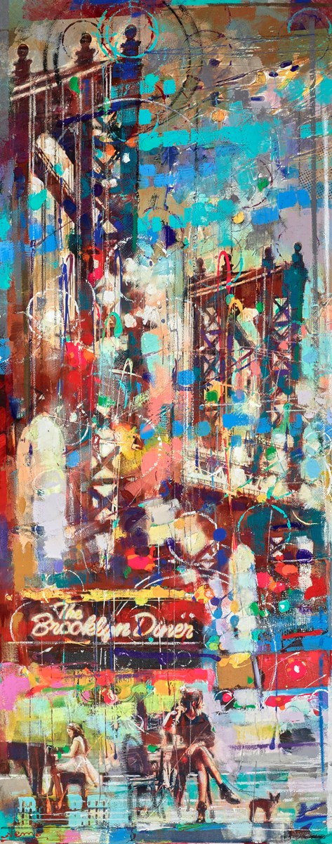 Brooklyn Diner at Night by nemo -  sized 24x60 inches. Available from Whitewall Galleries